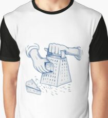 Handheld Cheese Grater Grating Watercolor Graphic T-Shirt