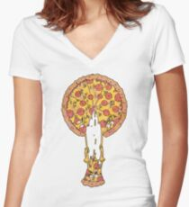 Pizza Problems Women's Fitted V-Neck T-Shirt