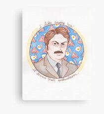 Ron Swanson from Parks and Recreation Canvas Print