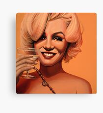 Marilyn Monroe 5 Painting Canvas Print
