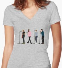 One Direction 8 Women's Fitted V-Neck T-Shirt