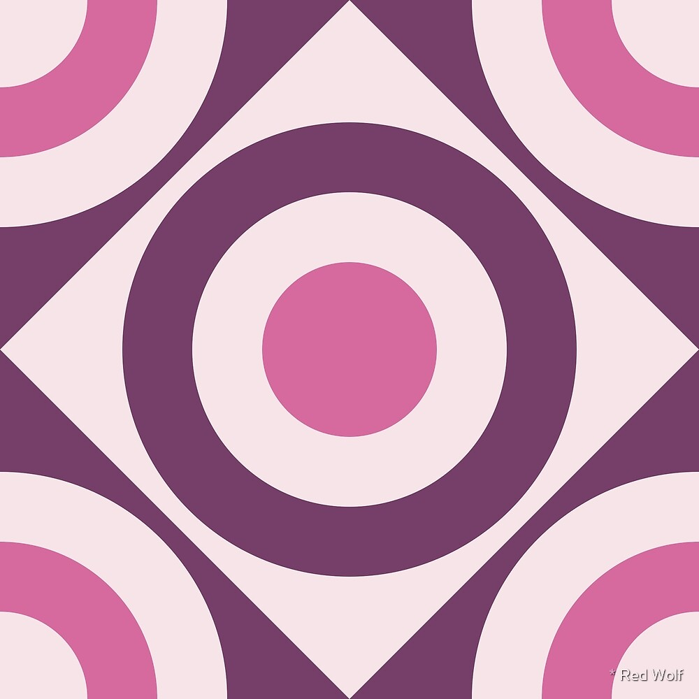 Geometric Pattern: Rondel Diamond: Violet by * Red Wolf
