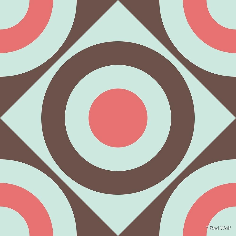 Geometric Pattern: Rondel Diamond: Nandina by * Red Wolf
