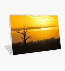 Farm Tree At Sunset  Laptop Skin