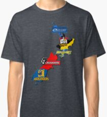 Super Rugby regions New Zealand Classic T-Shirt