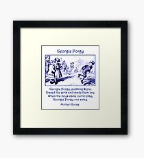 Georgie Porgy Mother Goose Illustrated Nursery Rhyme Framed Print