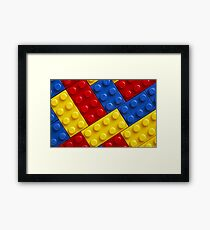 COLOUR legos Framed Print