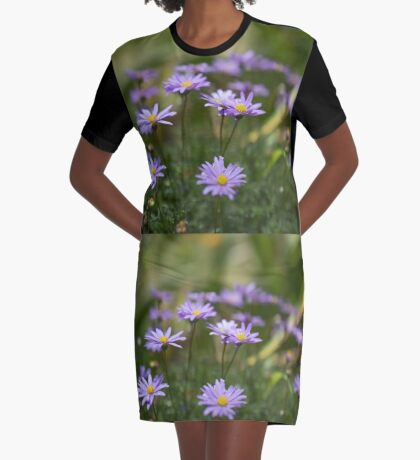 Swan River Daisies Graphic T-Shirt Dress