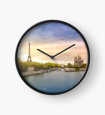 Sunset in Paris Clock