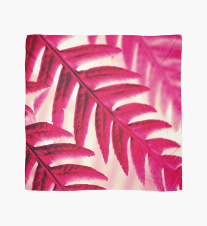 Nature Pattern # 1 - Fern (Red Pink) Scarf