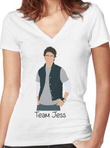 Team Jess Cartoon Women's Fitted V-Neck T-Shirt
