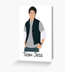 Team Jess Cartoon Greeting Card