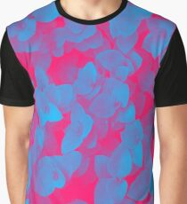 Nature Pattern - # 3 Leaves (Blue Red) Graphic T-Shirt
