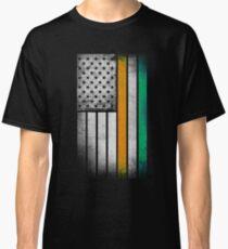 Irish American Flag - Half Irish Half American Classic T-Shirt