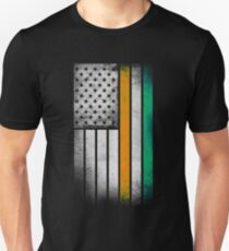 Irish American Flag - Half Irish Half American Unisex T-Shirt