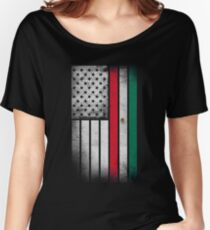 Mexican American Flag - Half Mexican Half American  Women's Relaxed Fit T-Shirt