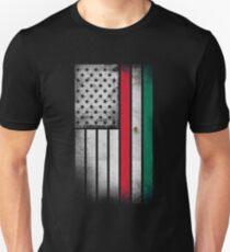 Mexican American Flag - Half Mexican Half American  Unisex T-Shirt
