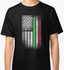 Italian American Flag - Half Italian Half American Classic T-Shirt