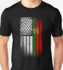 Portugese American Flag - Half Portugese Half T-Shirt