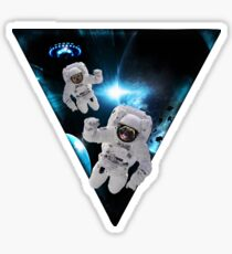 Puppies Lost in Space Sticker
