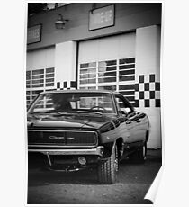 68 Charger B&W Poster
