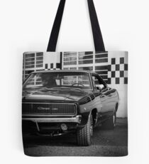 68 Charger B&W Tote Bag