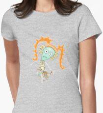 Bella Boo Blue Women's Fitted T-Shirt