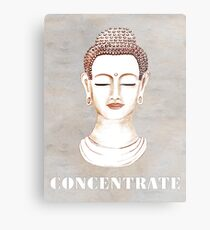 Buddha - Concentrate Metal Print