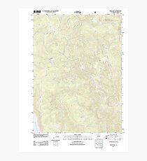USGS TOPO Map California CA Childs Hill 20120217 TM geo Photographic Print