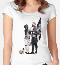 Banksy - Anarchist und Mutter Tailliertes Rundhals-Shirt