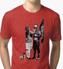 Banksy - Anarchist And Mother Tri-blend T-Shirt