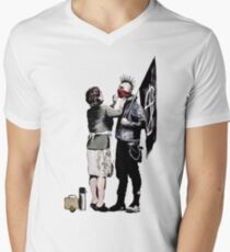 Banksy - Anarchist And Mother Men's V-Neck T-Shirt