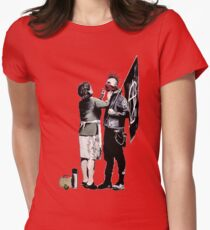 Banksy - Anarchist And Mother Womens Fitted T-Shirt