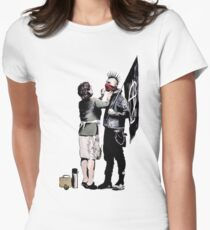 Banksy - Anarchist And Mother Women's Fitted T-Shirt