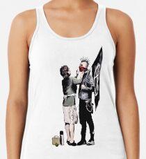 Camiseta con espalda nadadora Banksy - Anarquista y madre