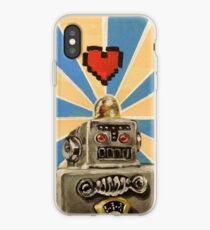 Tin Robot :: 8 Bit Love Machine iPhone Case