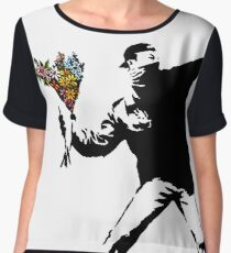Banksy - Rage, Flower Thrower Women's Chiffon Top