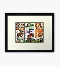 Cogs and Wheels Collage Framed Print
