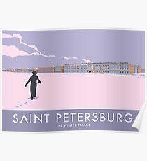 Sankt Petersburg, Winterpalast Poster