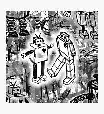 Robot Love Photographic Print