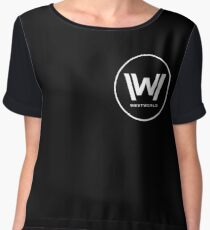 Westworld - Small White Logo Women's Chiffon Top