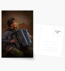 The street musician Postcards