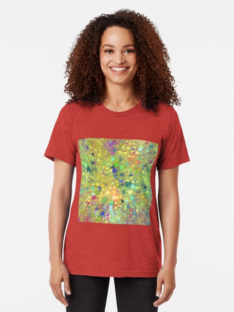 Alternate view of Spring #fractal art Tri-blend T-Shirt