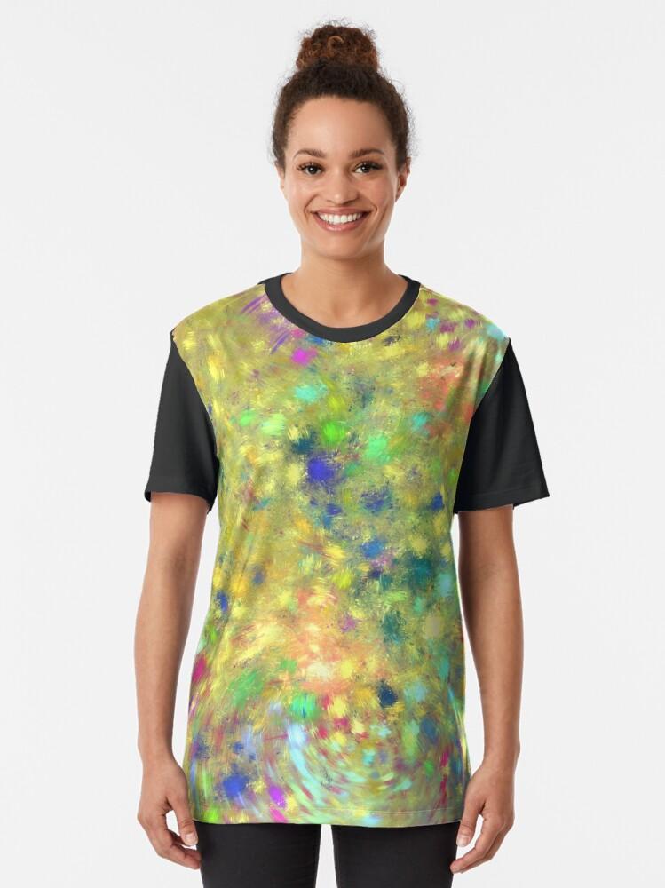 Alternate view of Spring #fractal art Graphic T-Shirt