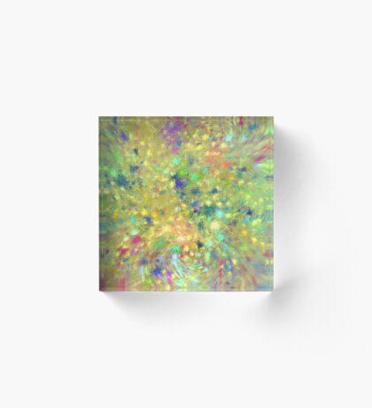 Spring #fractal art Acrylic Block