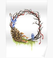 Woodland wreath  Poster