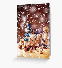 Christmas with Hand Made Toys and Presents Greeting Card