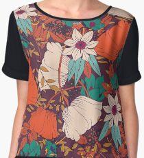 Botanical pattern 010 Women's Chiffon Top