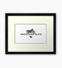 Sirius Orion Black Framed Print