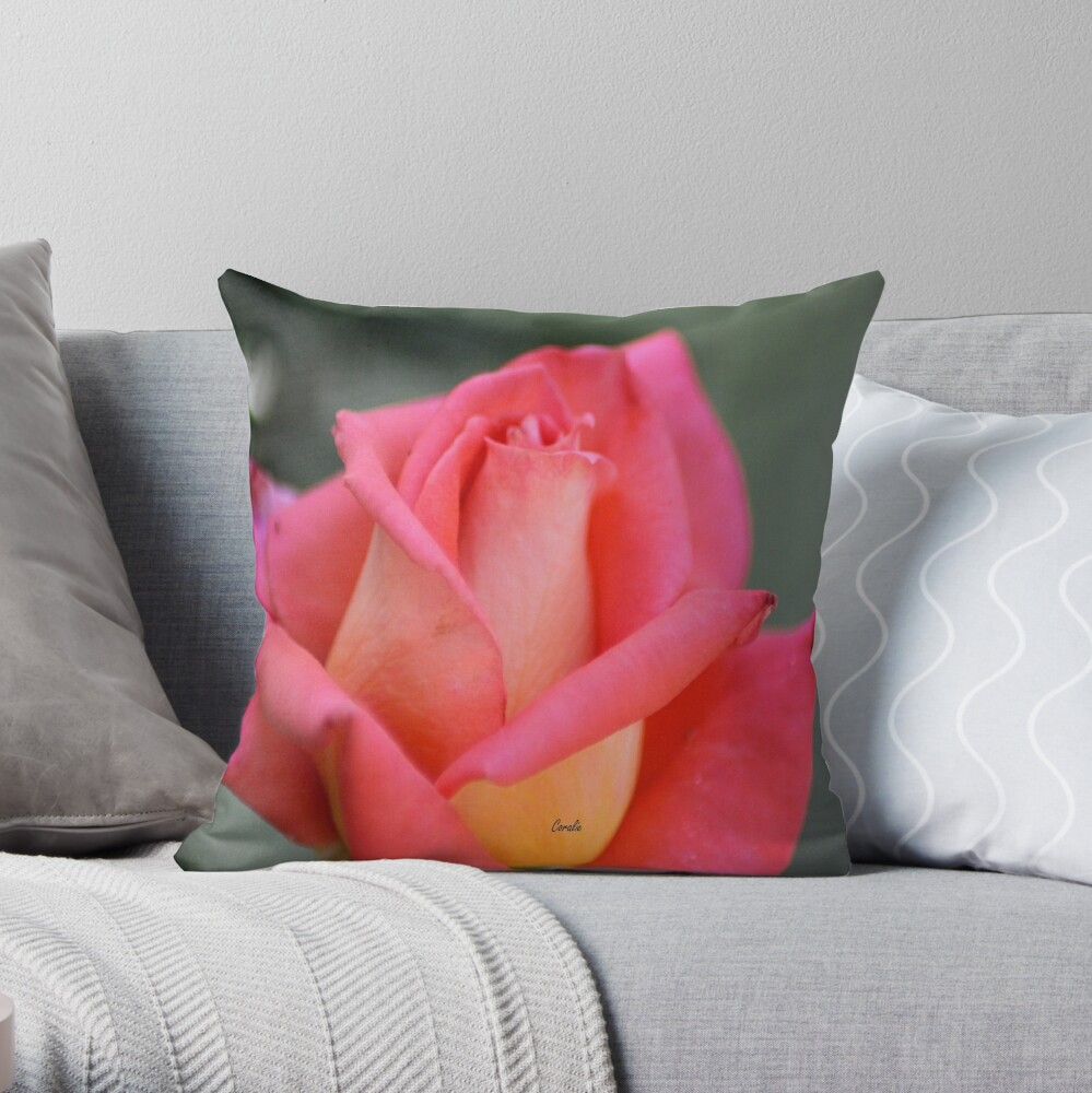 Color Of The Rose Throw Pillow